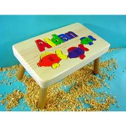 Astounding Fish Personalized Puzzle Step Stool Ocoug Best Dining Table And Chair Ideas Images Ocougorg