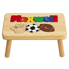name puzzle stools for children personalized puzzle step stools
