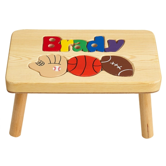 Personalized Puzzle Step Stool