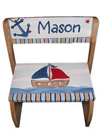 Nautical Flip stool