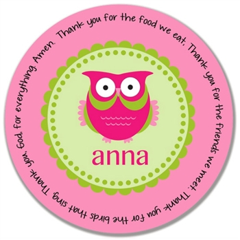 Owl Prayer Plate