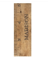 Old School Personalized Growth Chart