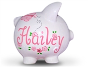 Pink Butterfly piggy bank