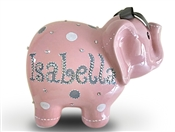 Pink Bling elephant piggy bank
