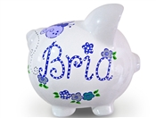 Purple Butterfly piggy bank