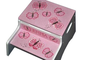 Pink Butterfly storage stool