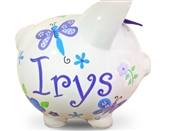 Purple Dragonfly piggy bank