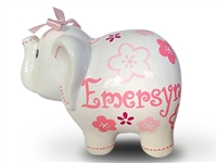 Pink fuchsia elephant piggy bank