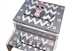 Pink grey owl storage stool