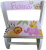 Pink happy Safari Flip step stool