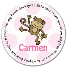Pink Monkey Prayer Plate