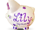 Purple Crystal piggy bank