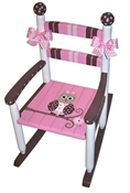 Rocking Chair Pink Owl