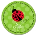 Red Ladybug Prayer Plate
