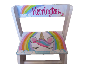 Rainbow Unicorn Flip step stool