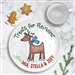Treats for Reindeer Ceramic plate personalized