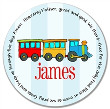 Train Prayer Plate
