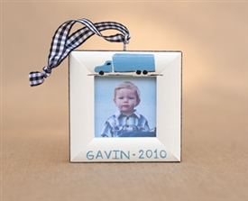 Truck Personalized Photo Ornament