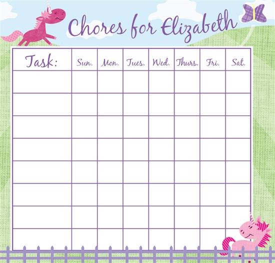 Personalized Chore Charts