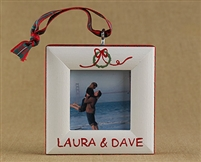 Wreath Personalized Photo Ornament