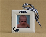 Whale Personalized Photo Ornament