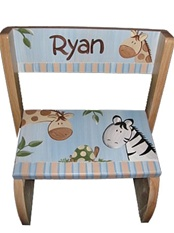 personalized stools for children name stools puzzle step stools