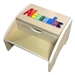 personalized puzzle Maple two step stool long