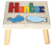 personalized puzzle step stool nat maple whales