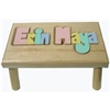 personalized puzzle step stool Nat double name maple