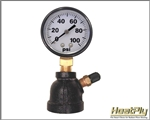 "2"" 100# Air Test Gauge w/ 3/4"" Bell Reducer"