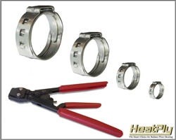 "3/8"" SS Cinch Clamps"
