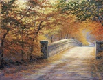 Autumn Bridge Canvas