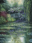 Monet's Japanese Bridge, Canvas