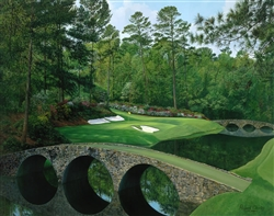 Augusta 12th hole by Richard Chorley. open edtion print