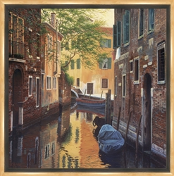 Venetian Back Alley Limited Edition Framed Canvas 31x31