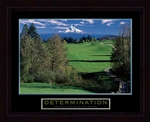 Determination Golf Framed
