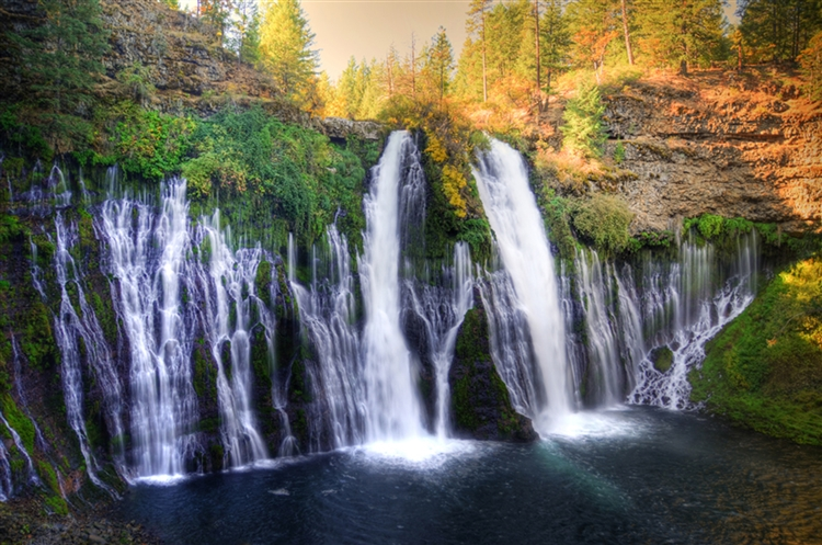 Burney Falls, California waterfalls and forest. A gallery wrapped canvas by Kelly Wade