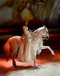 Andalusian Ballet - horse and rider by Lois Stanfield