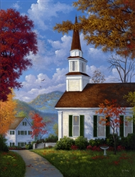 Chapel in the Hills (Autumn) by Kyle Wood
