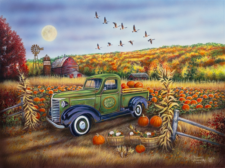 Autumn Harvest - pumpkins By Robert Andrea