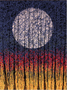 Harvest Moon canvas by Daniel Lager