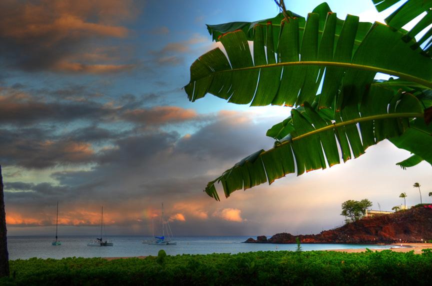Black Rock Kaanapali Maui Hawaii Sunrise A Gallery Wrapped Canvas By Kelly Wade