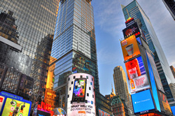 Times Square New York City. A gallery wrapped canvas by Kelly Wade