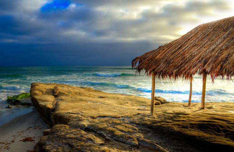 Windansea Beach La Jolla, California Palupa. A gallery wrapped canvas by Kelly Wade