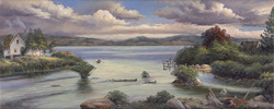 Outlet.   An easy outlet creates the way for a quiet row on a lake.  A gallery wrapped canvas by Keith Brown