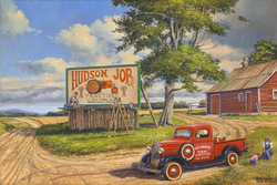 The Sign Painter.  Handpainted signs balance art and commerce in this Americana image.   A gallery wrapped canvas by Keith Brown