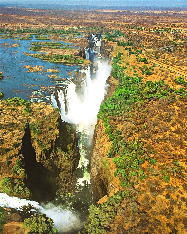 Victoria Falls from Above giclee canvas by Don Schimmel