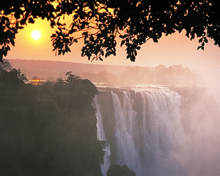 Victoria Falls Sunrise giclee canvas by Don Schimmel