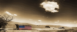 American Barn and Cloud giclee canvas by Don Schimmel