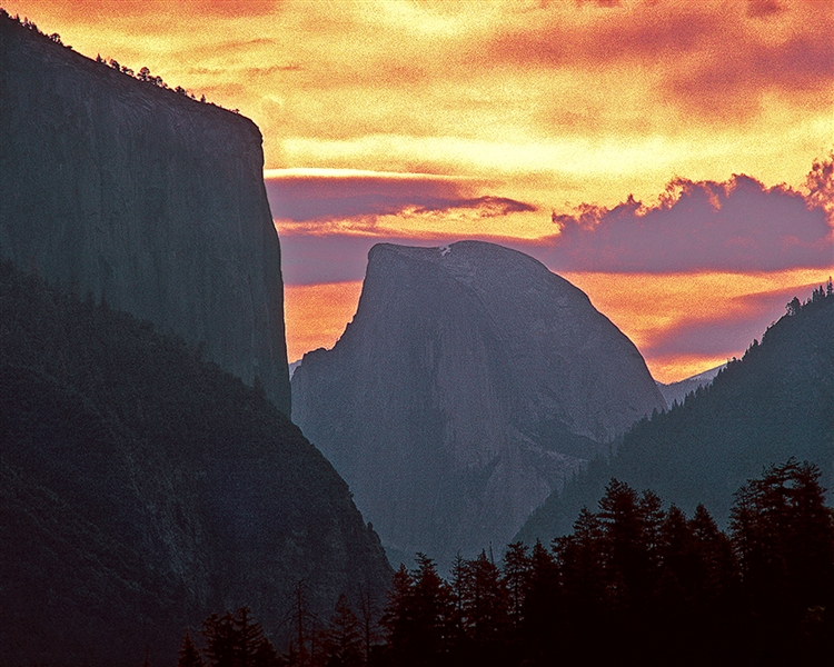El Capitan and Half Dome Landscape giclee canvas by Don Schimmel